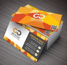 Vector illustartion of 3D creative business card mockup.