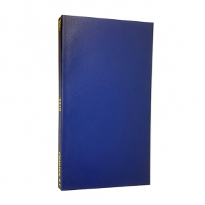 Thesis blue cloth binding