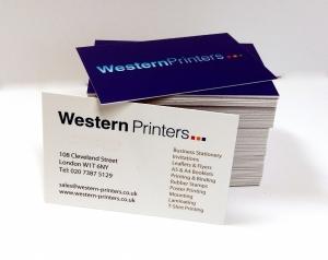 Business-cards, 450gsm, matt laminate & spot UV