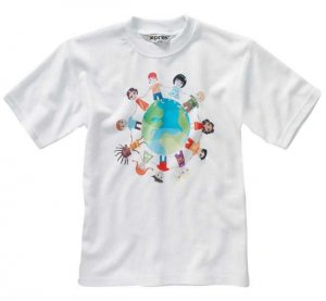 Print on white t-shirt