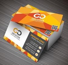 Vector illustartion of 3D creative business card mockup.