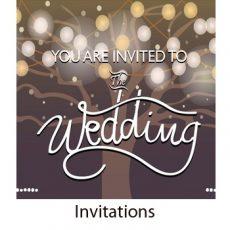 Invitations - party, wedding, birthdays