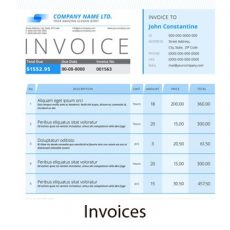 Invoices, delivery notes and receipts