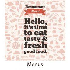 Menus for restaurants, parties